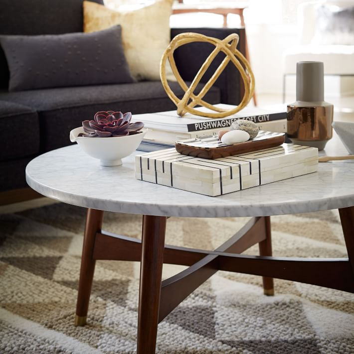 wood frame marble coffee table mct042