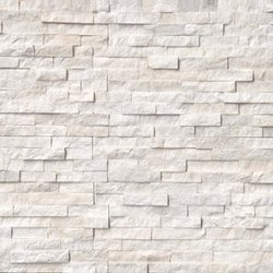 Arctic White Ledger Stone Panel