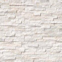 Arctic White Ledger Stone Panel