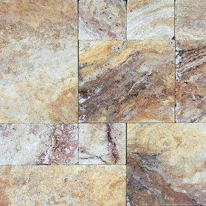 Scabos Travertine Paver Tumbled French (Versailles) Pattern