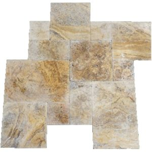 Scabos Tumbled French (Versailles) Pattern Travertine Tile