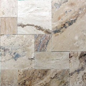 Philadelphia Travertine Tumbled French (Versailles) Paver