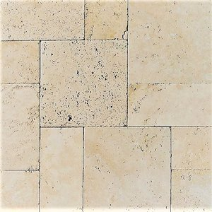 Walnut Travertine Tumbled French (Versailles) Pattern Paver