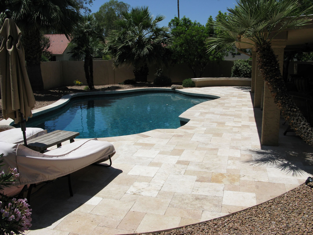 Tuscany Blend Travertine Paver French Pattern