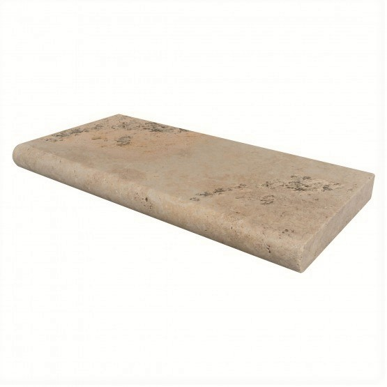 Mocha Travertine Pool Coping