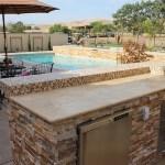 Golden white stacked stone veneer panels Oxnard California