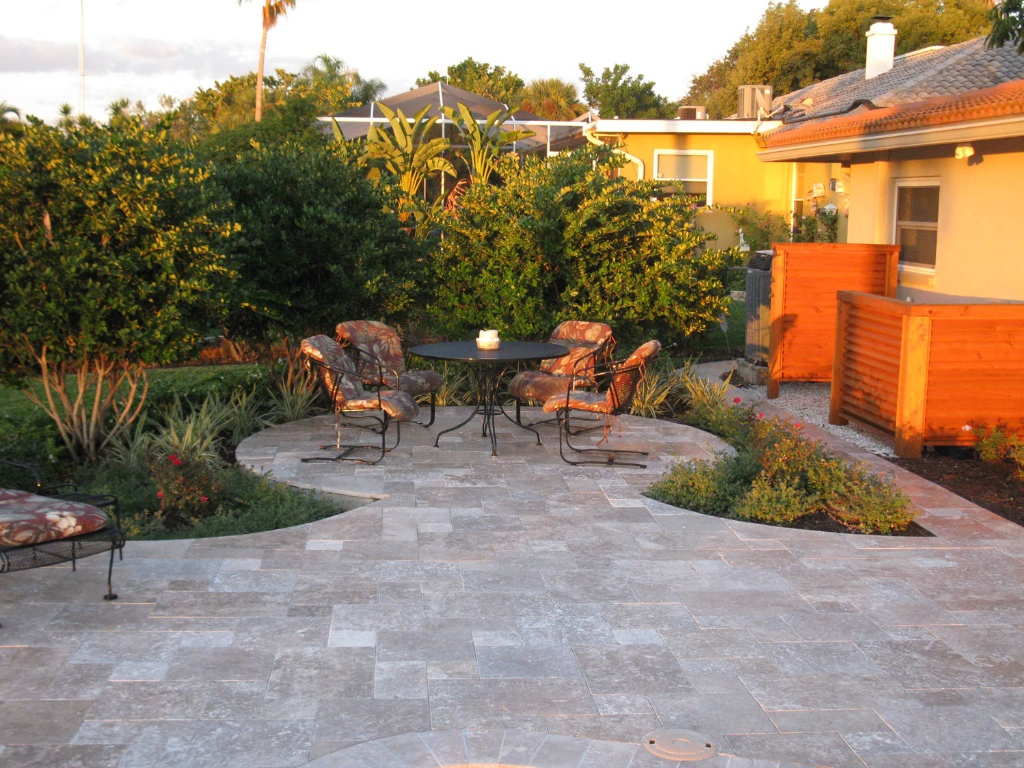 Tuscany Noce travertine pattern pavers patio natural stone Milpitas Bay Area
