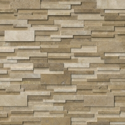 Casa Blend 3D Honed Travertine Stacked Stone Ledger