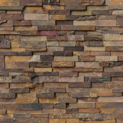 California Gold Stacked Stone Panels