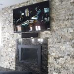 Silver Travertine Ledger Stacked Stone Veneer Panel San Jose outdoor house wall