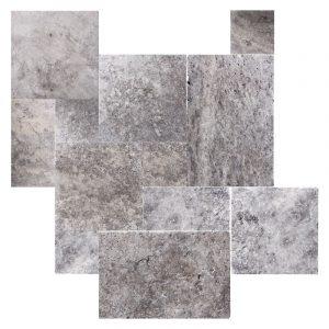 Silver Travertine French Pattern Tile