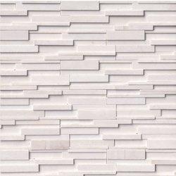 Arctic White 3D Ledger Stone Panel LPNLMARCWHI624-3DH