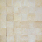 "2""x2"" Ivory Wavy Travertine Mosaic"