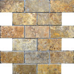 "2""x4"" Scabos Travertine Mosaic"