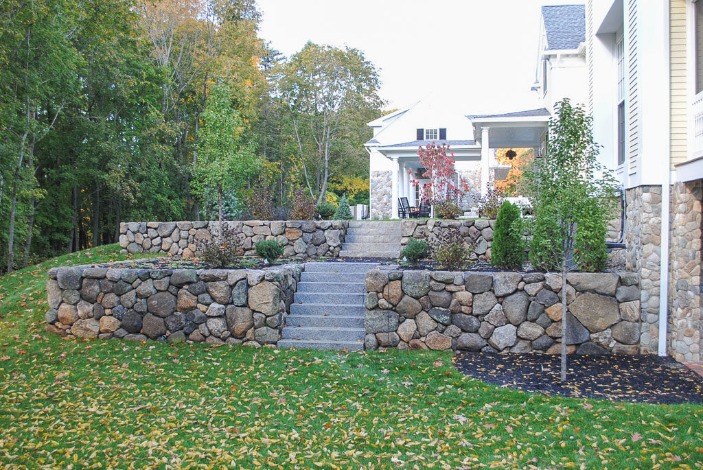 Fieldstone Retaining Walls