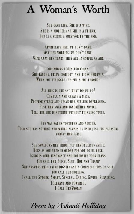 A Woman's Worth | Ashanti Holliday/title>
