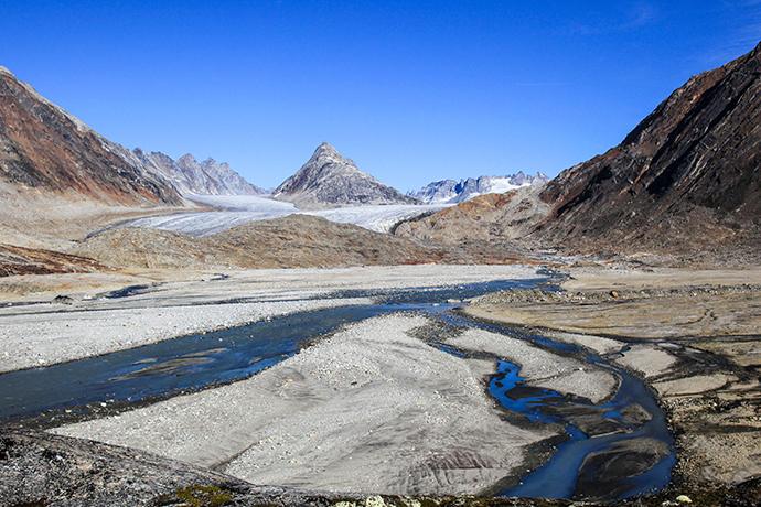 The Tunu Glacier in 2010.