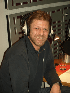Sean Bean in recording studio