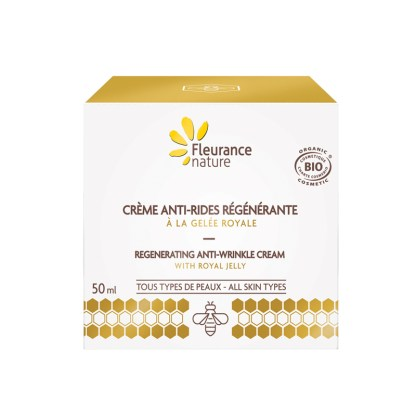 Organic Royal Jelly Anti Wrinkle Face Cream Box by Fleurance Nature