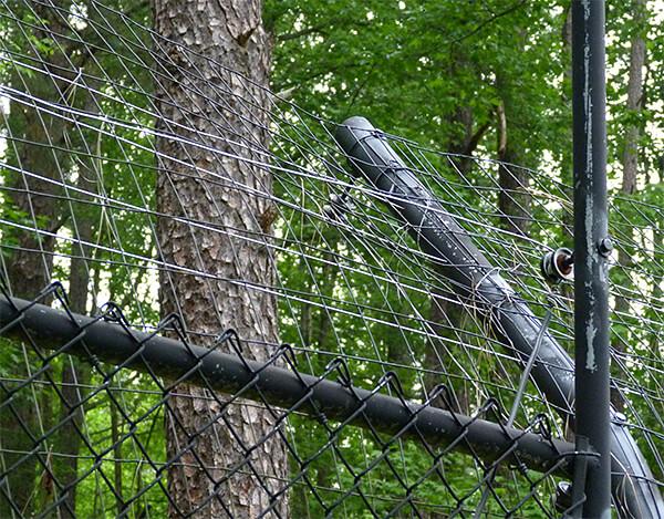Curved fence post, sans cap.