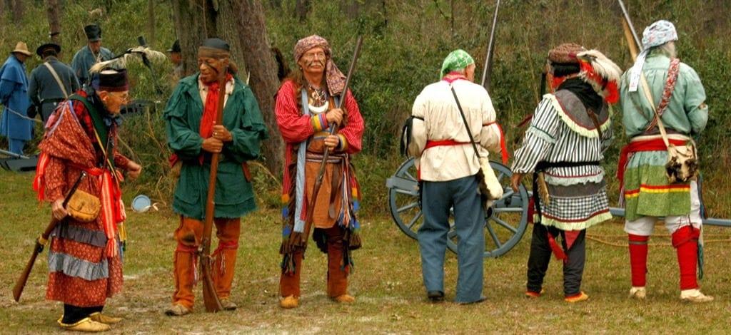 Seminole re-enactors