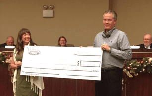 Nick Nicholas Ford presents $7,500 to Inverness for Events