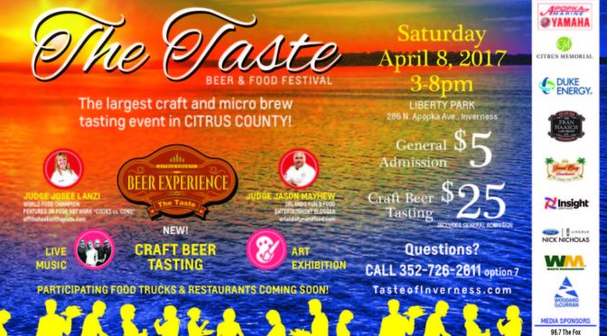 The Taste, a redesigned Food Challenge and Craft Beer Event 4/8