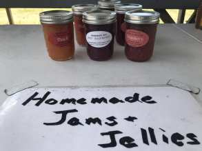 Homemade or locally made jams