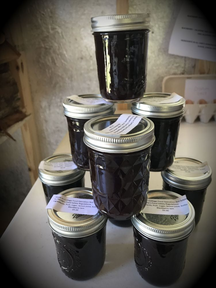 Ann's blackberry jams are second to none.