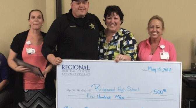 "Regional Medical Center Bayonet Point Awards Ridgewood High School Students $500 in ""Battle of the Belts"""