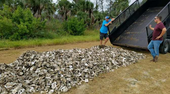 CCA Florida Donates 5 tons of Oyster Shells