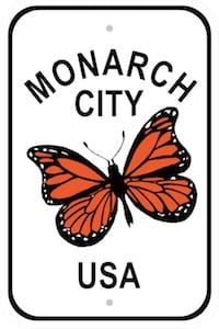monarch city usa sign