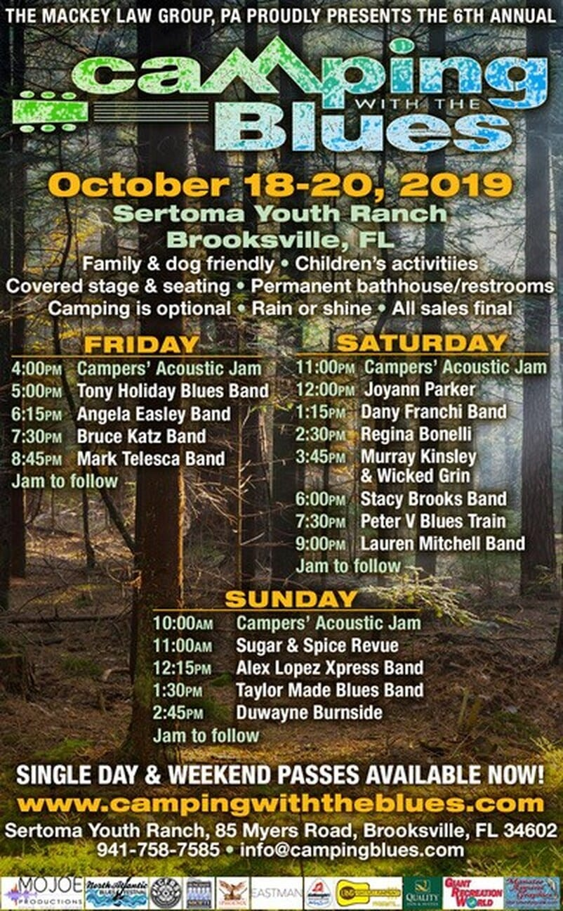camping with the blues flyer