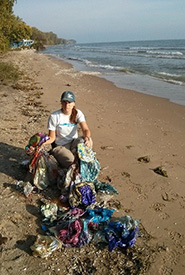 Like me, our conservation biology coordinator who works on Pelee Island has picked up more balloons than any other type of trash. (Photo by NCC)