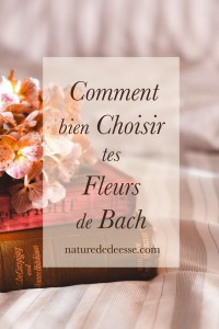 Comment bien choisir tes fleurs Bach - Nature de déesse