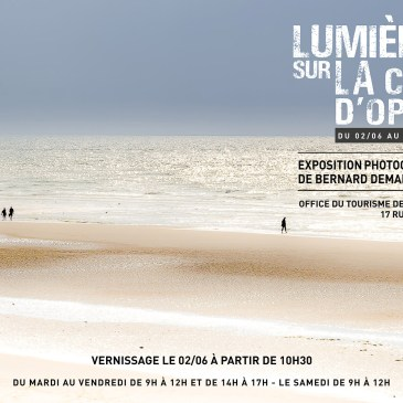 """J'ai le plaisir de vous inviter au vernissage de mon exposition sur le thème """"Lumières sur la côte d'Opale"""" à l'Office du tourisme de Wasquehal le 2 juin à 10h30. Voir affiche jointe"""
