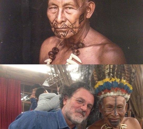 Con el chamán Antonio Bolivar