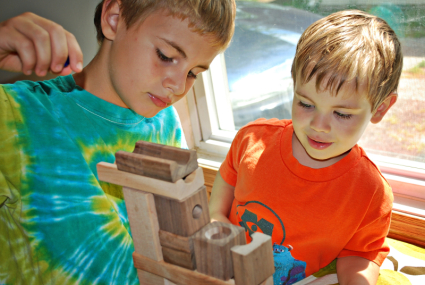 Playing with blocks and marbles