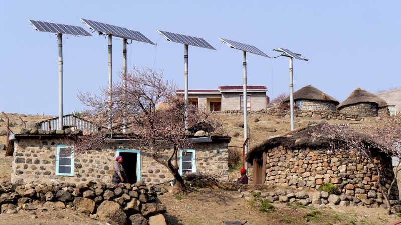 live off grid in lesotho