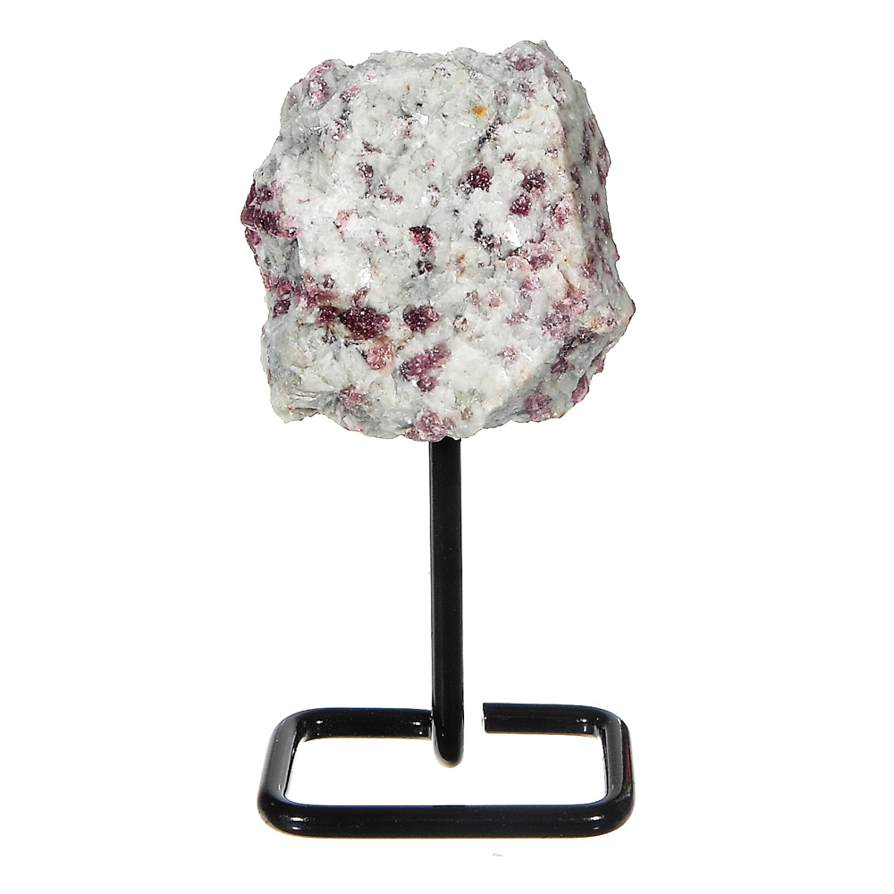 MMS203 - Small Pink Tourmaline on Metal Stand