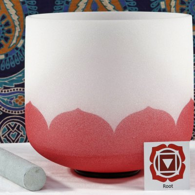 SBQCC - Frosted Quartz Crystal Singing Bowl: C Root/Red /DO