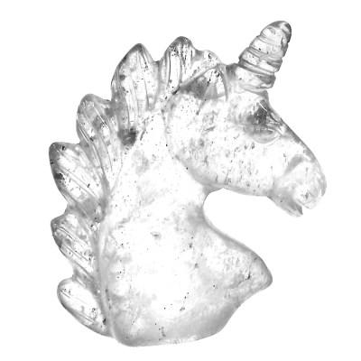 UHCQ - Clear Quartz Unicorn Head