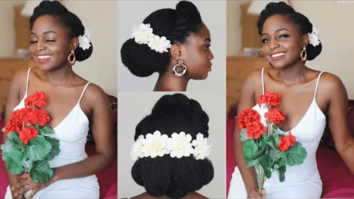 Slay Your Wedding Hair With These Simple DIY Hairstyles For Naturalistas