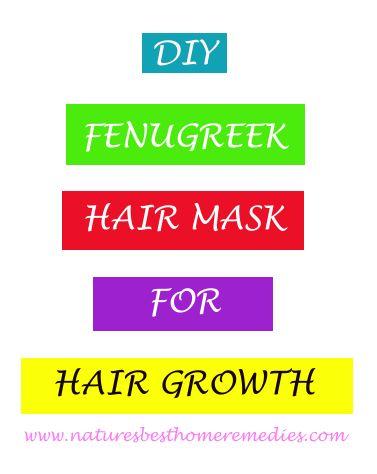 diy fenugreek hair mask