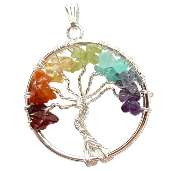 Tree Of Life Wire Chakra Pendant Wholesale Jewelry