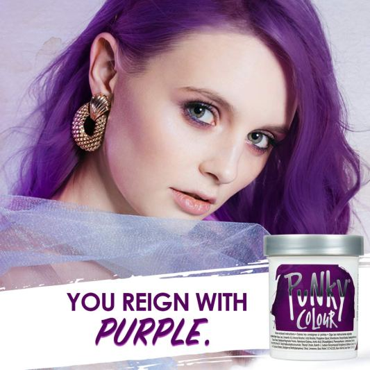 Punky Purple Semi-Permanent Conditioning Hair Color