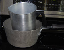 double boiler method