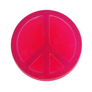 Soap Making Molds Peace Sign- Mold Market Molds