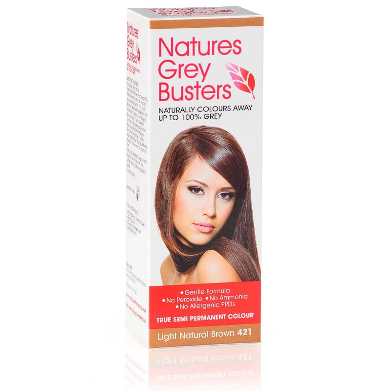 Light Natural Brown Hair Colour PPD Free Hair Dye