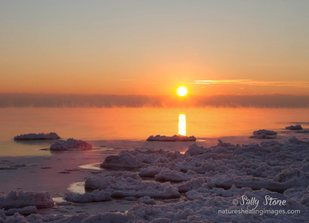 Sunrise Lake Michigan Winter